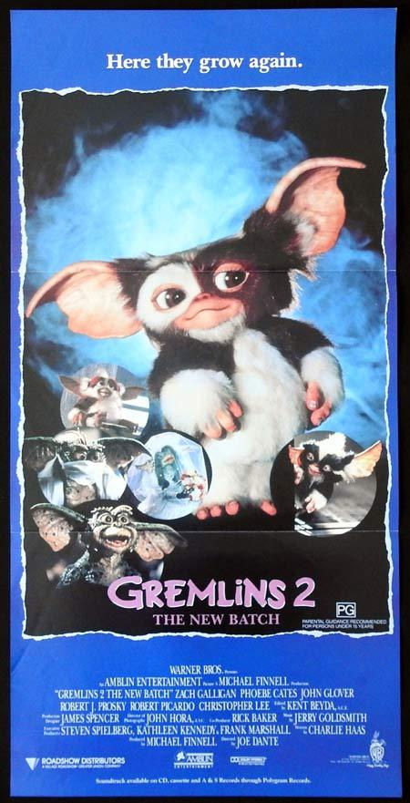 GREMLINS 2 Original Daybill Movie Poster Horror Phoebe Cates Zach Galligan