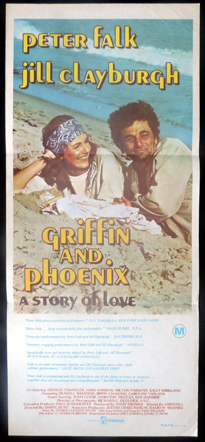 GRIFFIN AND PHOENIX Original Daybill Movie poster Peter Falk Jill Clayburgh