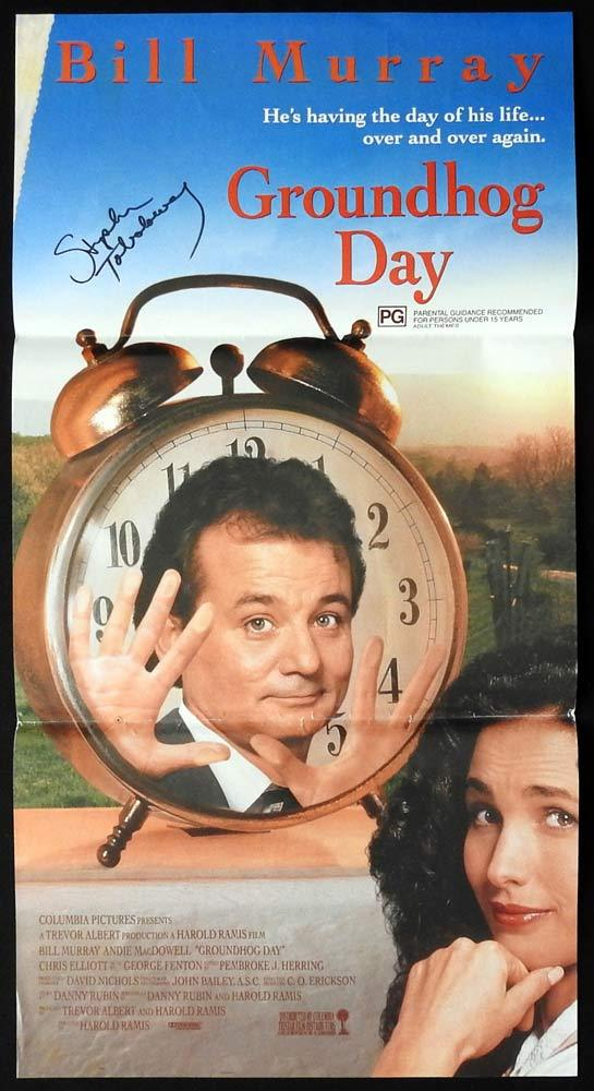 GROUNDHOG DAY Daybill Movie Poster AUTOGRAPH Stephen Tobolowsky