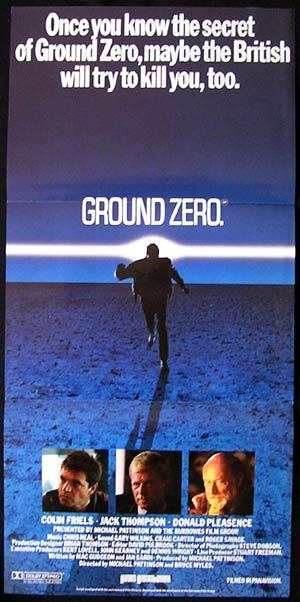 GROUND ZERO Daybill Movie Poster Colin Friels Jack Thompson Rare Australian Film