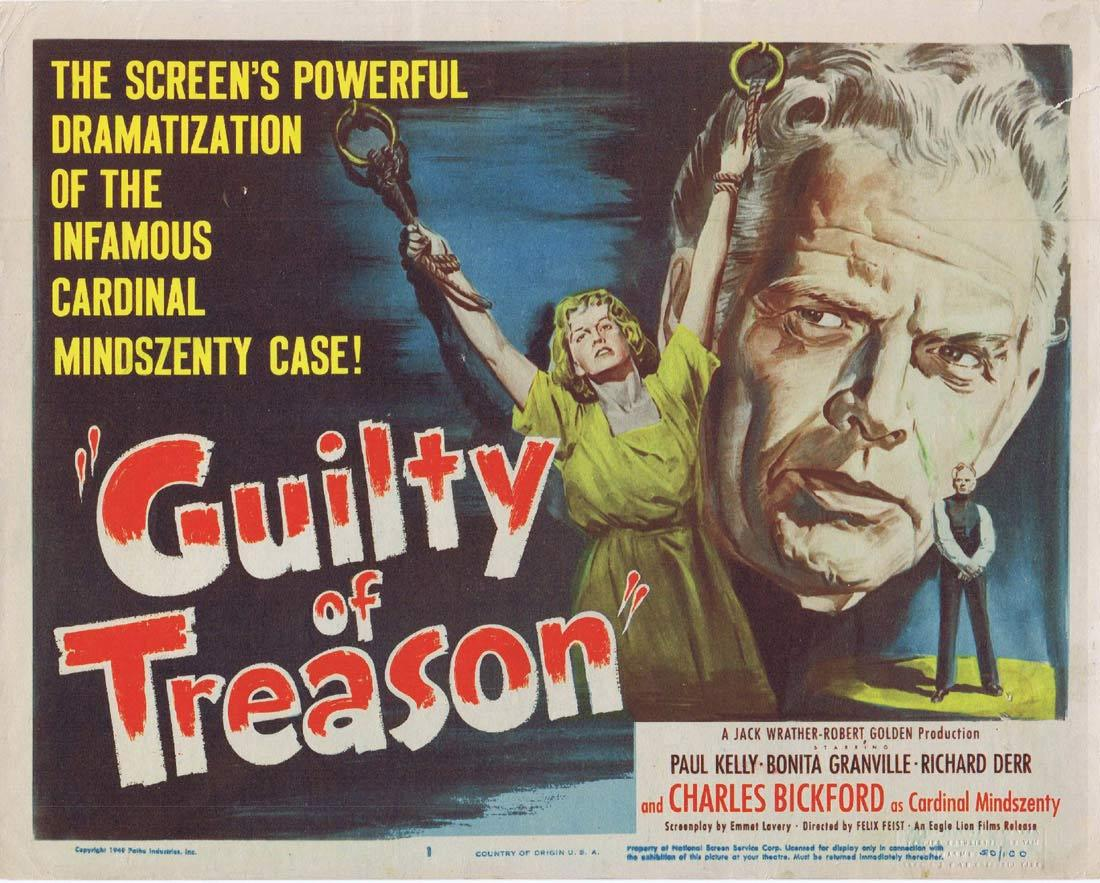 GUILTY OF TREASON 1950 Charles Bickford Title Lobby card