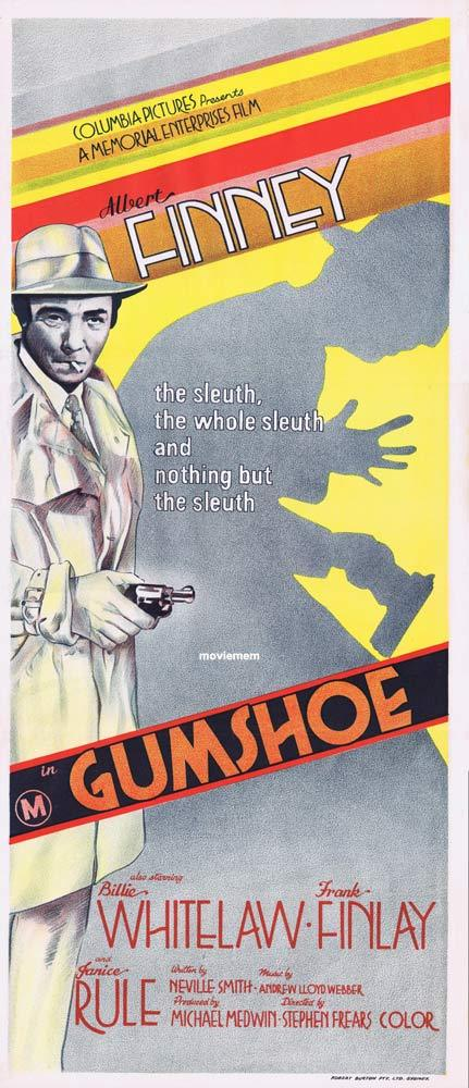 GUMSHOE Original Daybill Movie Poster Albert Finney