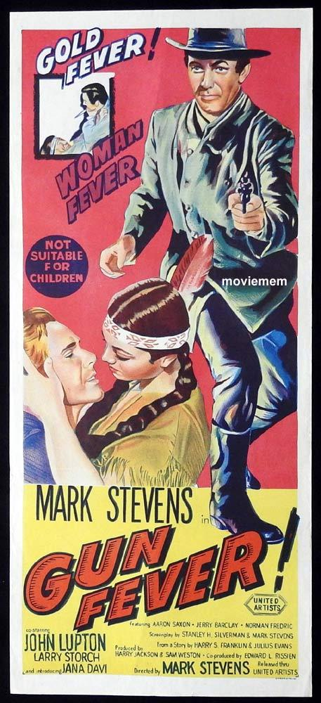 GUN FEVER Original Daybill Movie Poster Mark Stevens John Lupton
