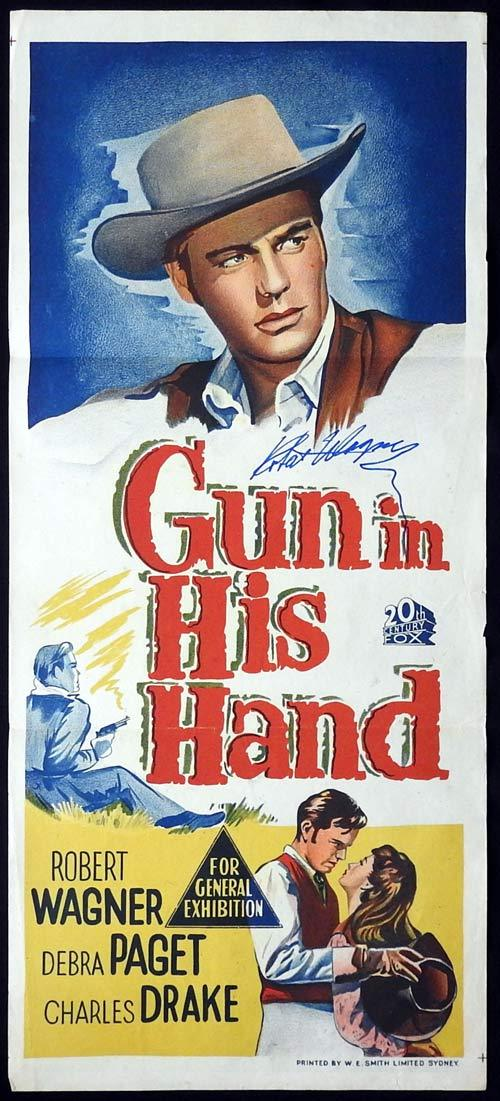 GUN IN HIS HAND Original Daybill Movie poster ROBERT WAGNER Autographed