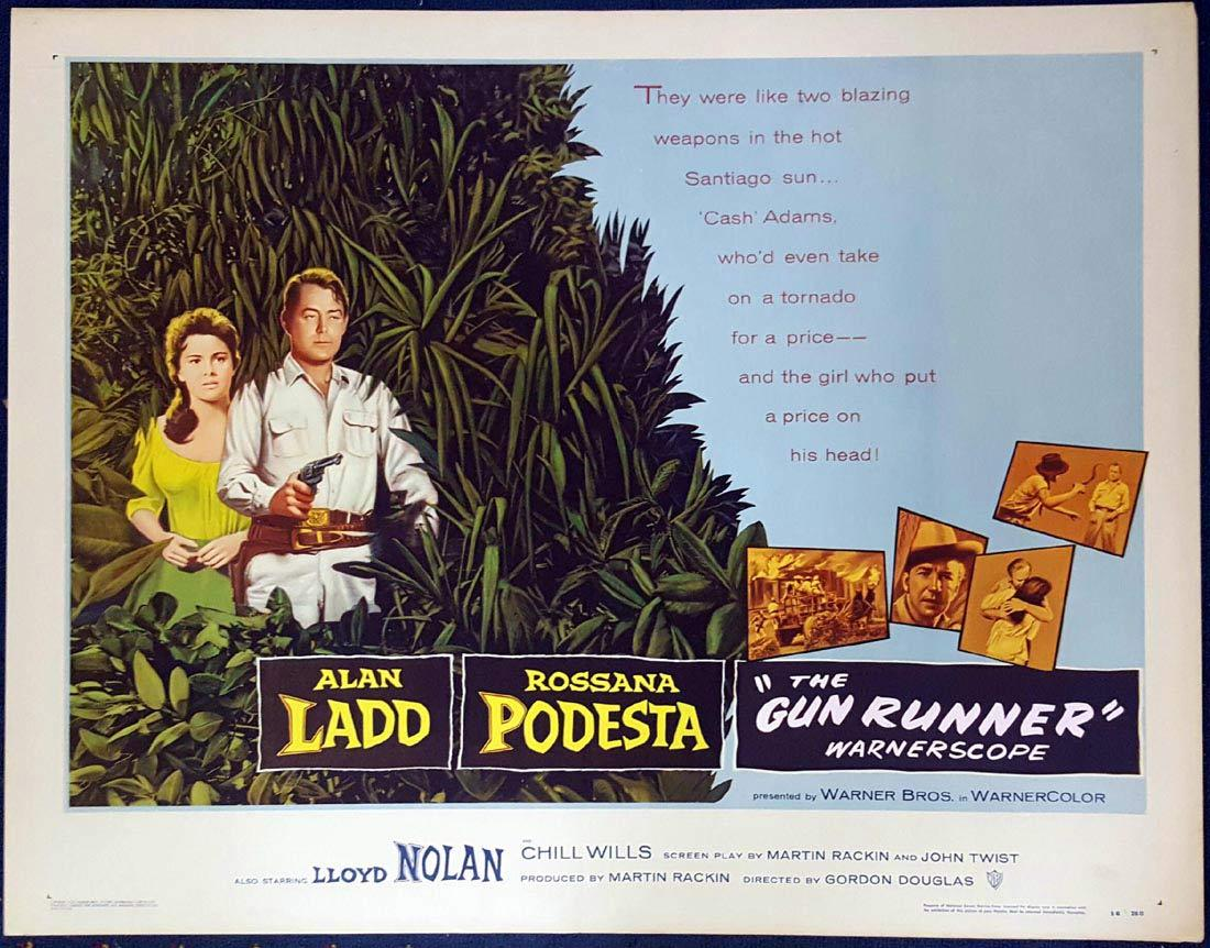 THE GUN RUNNER aka SANTIAGO US Half sheet Movie poster Alan Ladd
