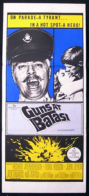 GUNS AT BATASI '64-Richard Attenborough daybill poster