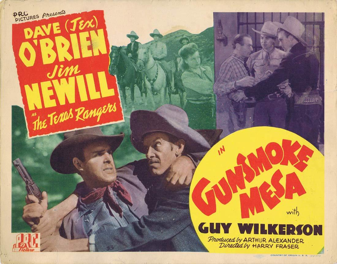 GUNSMOKE MESA Original Title Lobby Card James Newill Dave O'Brien Guy Wilkerson