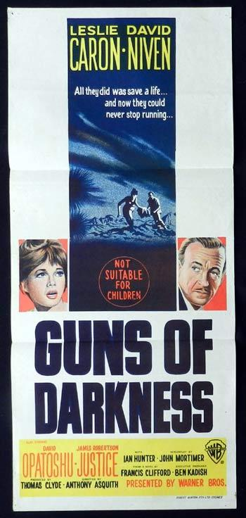GUNS OF DARKNESS Original Daybill Movie Poster David Niven