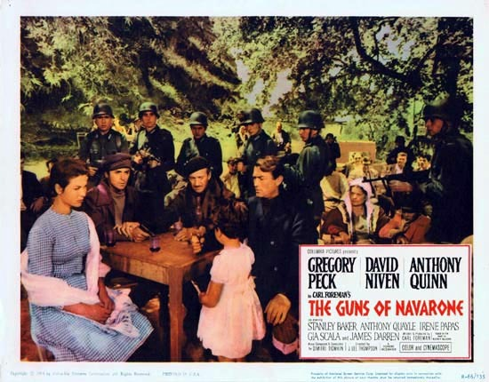 GUNS OF NAVARONE 1966r Gregory Peck Lobby Card 3