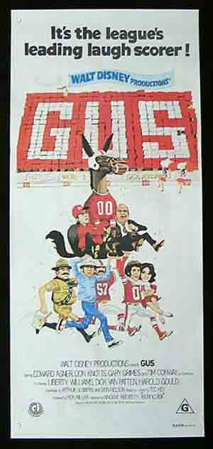 GUS Original Daybill Movie poster 1976 Bob Crane DON KNOTTS Ed Asner