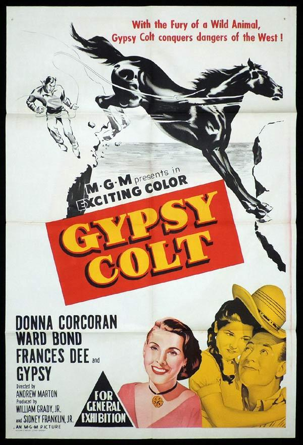 GYPSY COLT One Sheet Movie Poster Ward Bond Donna Corcoran