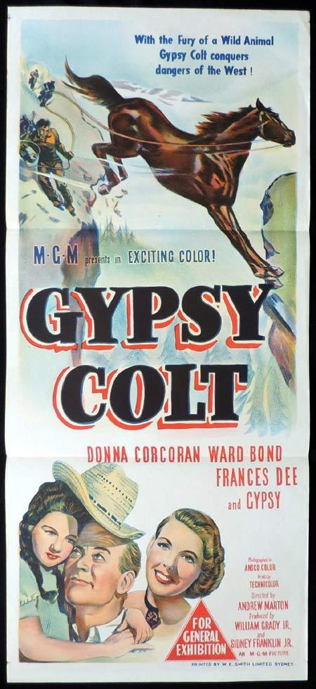 GYPSY COLT Original Daybill Movie Poster Donna Corcoran Ward Bond