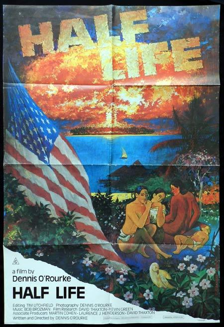 HALF LIFE 1986 Graham Back art Australian Nuclear Documentary One sheet Movie Poster