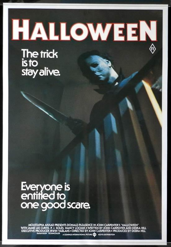 HALLOWEEN Australian one sheet Movie poster LINEN