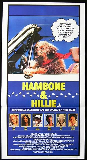 HAMBONE AND HILLIE '84 Lillian Gish DOG LOVER Australian Daybill Movie poster