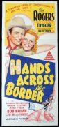 HANDS ACROSS THE BORDER Original Daybill Movie Poster Clark Roy Rogers
