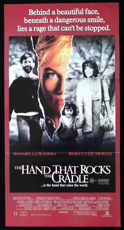 THE HAND THAT ROCKS THE CRADLE Original Daybill Movie poster Rebecca De Mornay