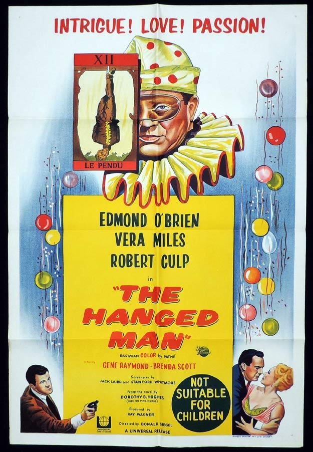THE HANGED MAN One Sheet Movie Poster Edmond O'Brien Don Siegel