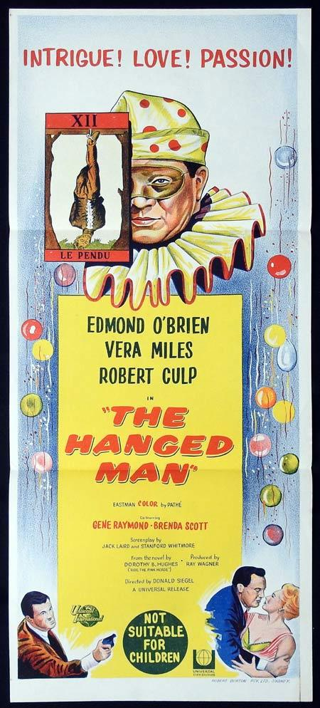 THE HANGED MAN Original Daybill Movie Poster Don Siegel Edmond O'Brien Clown