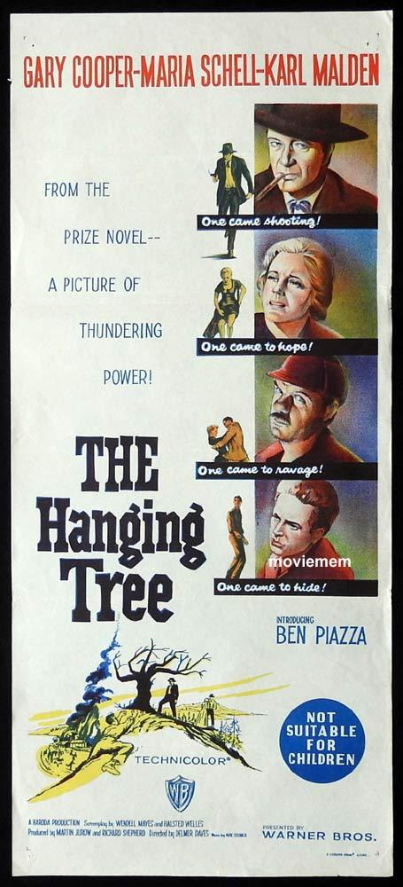 THE HANGING TREE Original Daybill Movie Poster Gary Cooper Maria Schell