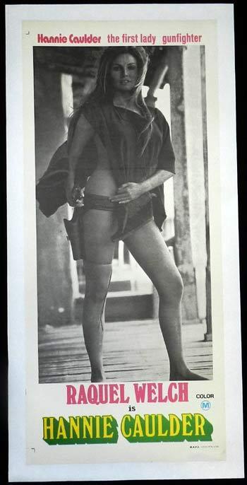 HANNIE CAULDER 1971 Raquel Welch SEXIEST IMAGE Linen Backed ADVANCE Daybill Movie poster