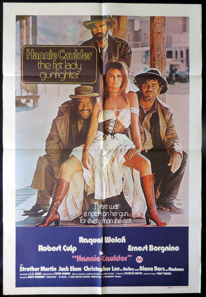 HANNIE CAULDER 1971 Raquel Welch One sheet Movie poster