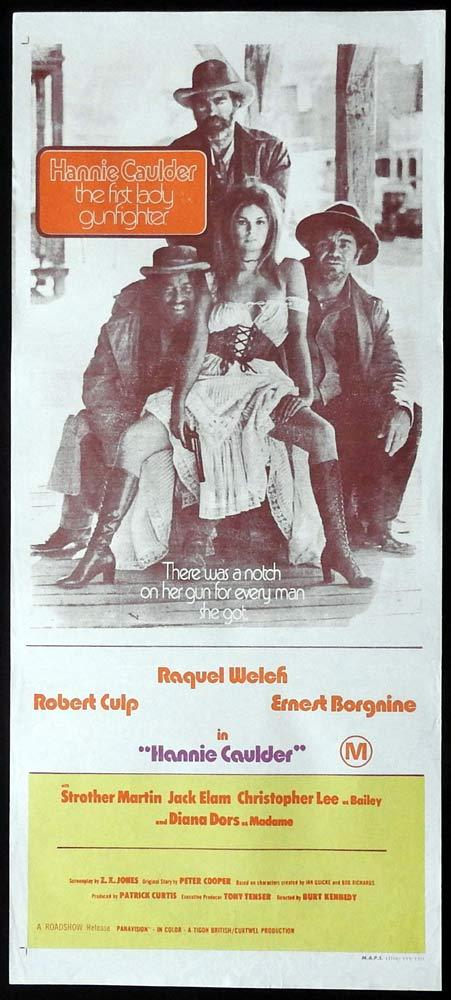 HANNIE CAULDER Original Daybill Movie Poster Raquel Welch Robert Culp