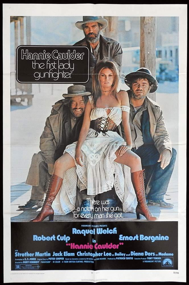 HANNIE CAULDER Original US One sheet Movie poster Raquel Welch