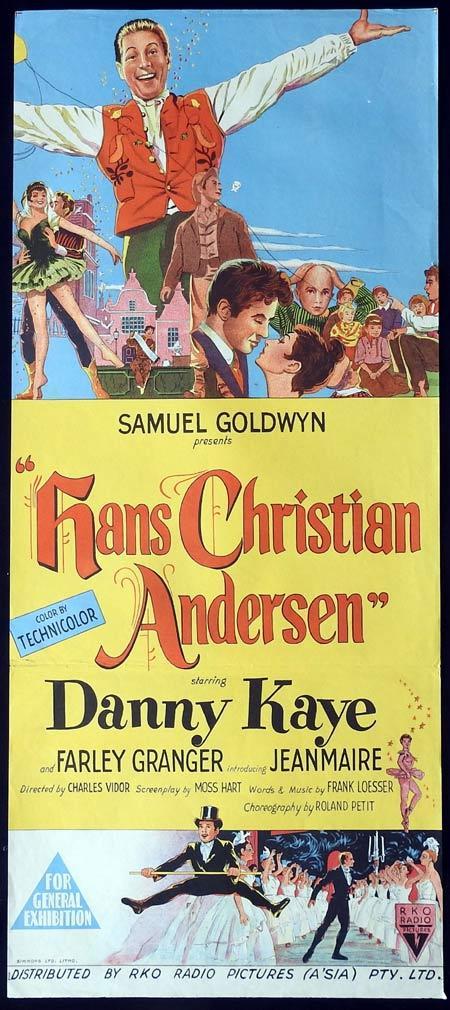 HANS CHRISTIAN ANDERSEN Original daybill Movie Poster Danny Kaye Farley Granger Zizi Jeanmaire