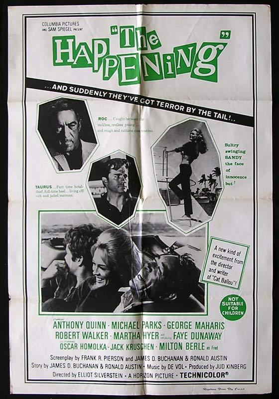 THE HAPPENING Original One sheet Movie poster Anthony Quinn Michael Parks