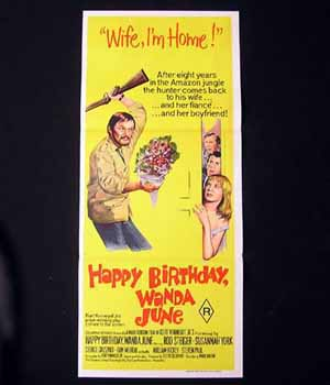HAPPY BIRTHDAY WANDA JUNE 1971 Rod Steiger Susannah York Daybill Movie poster