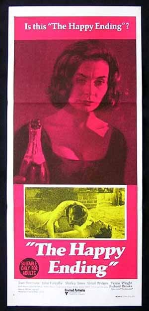 THE HAPPY ENDING 1969 Jean Simmons Forsythe Daybill Movie Poster
