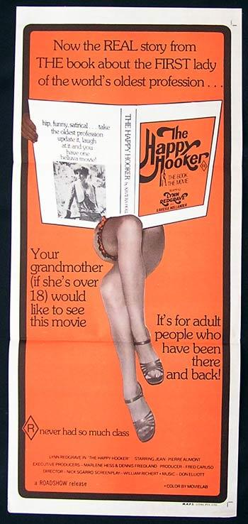 THE HAPPY HOOKER Daybill Movie Poster Lynn Redgrave