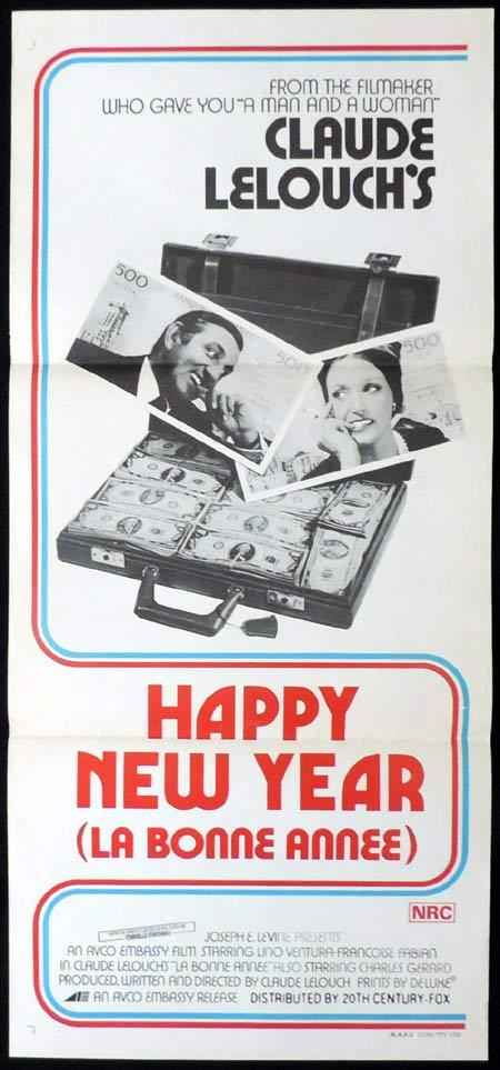 HAPPY NEW YEAR Original Daybill Movie Poster Claude Lelouch Lino Ventura