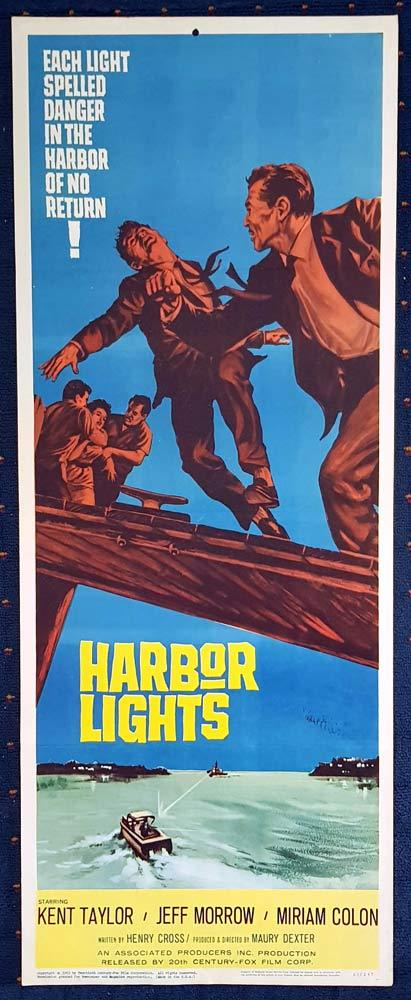 HARBOR LIGHTS Original US Insert Movie Poster Film Noir Kent Taylor Miriam Colon Jeff Morrow