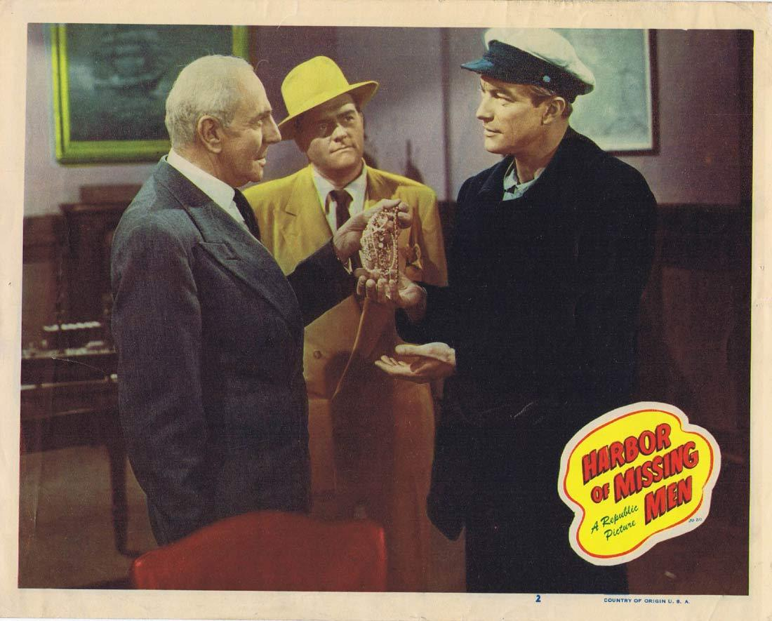 HARBOR OF MISSING MEN Lobby Card 2 Richard Denning Barbra Fuller