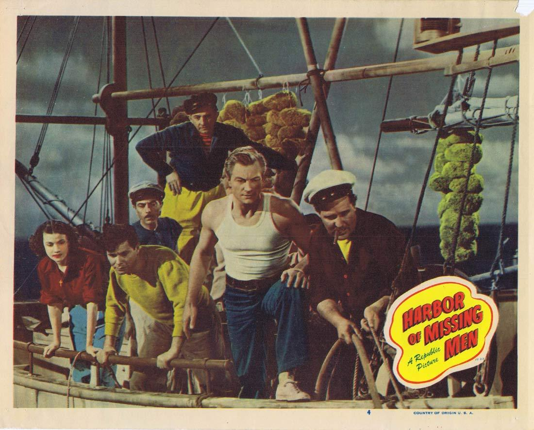 HARBOR OF MISSING MEN Lobby Card 4 Richard Denning Barbra Fuller