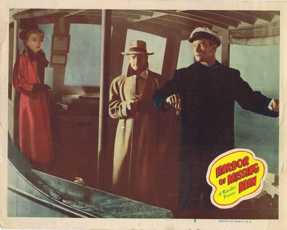 HARBOR OF MISSING MEN Lobby Card 5 Richard Denning Barbra Fuller
