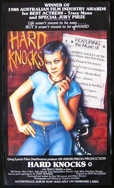 HARD KNOCKS 1980 Bill Hunter AUSTRALIAN CINEMA Rare Australian Daybill