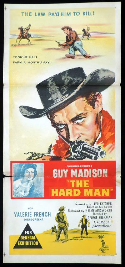 THE HARD MAN Daybill Movie Poster Guy Madison Western