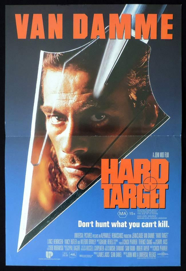 HARD TARGET Original Daybill Movie Poster Jean Claude Van Damme