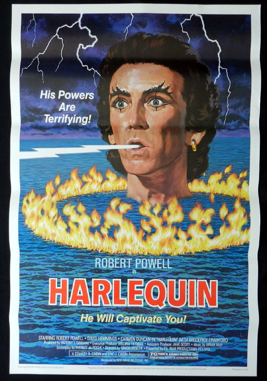 HARLEQUIN 1980 David Hemmings Rare US One Sheet Movie Poster