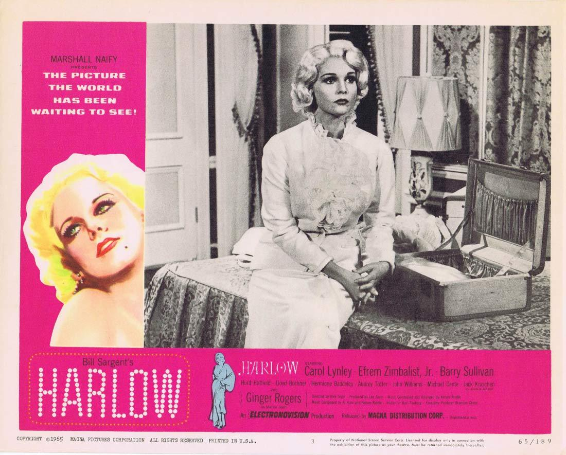 HARLOW Original Lobby Card 3 Carroll Baker Red Buttons