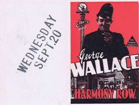 HARMONY ROW 1933 F.W.Thring Movie Herald Australian Cinema Classic Melbourne Cup content
