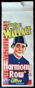 HARMONY ROW Long Daybill Movie poster 1933 George Wallace