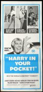 HARRY IN YOUR POCKET daybill Movie poster James Coburn
