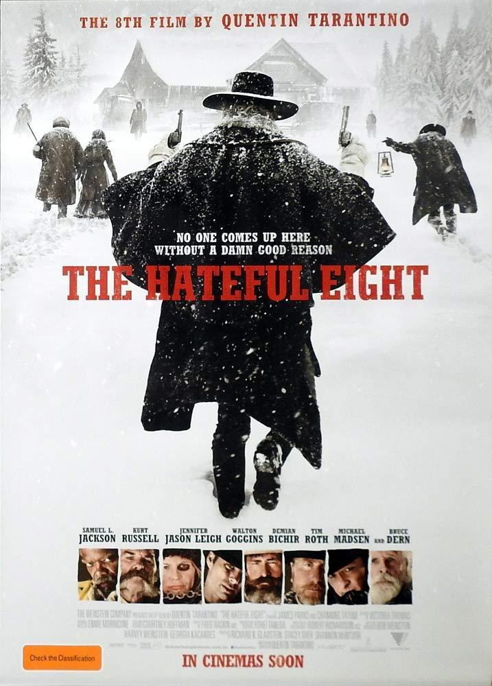 THE HATEFUL EIGHT Original AUSTRALIAN DS One sheet Movie poster Quentin Tarantino