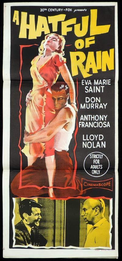 A HATFUL OF RAIN Daybill Movie poster Eva Marie Saint