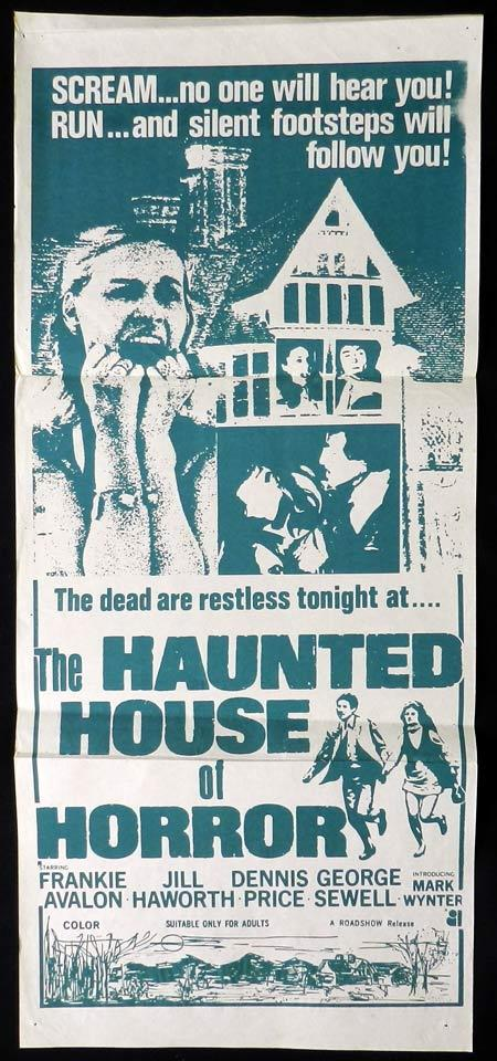 HAUNTED HOUSE OF HORROR Original daybill Movie Poster Frankie Avalon