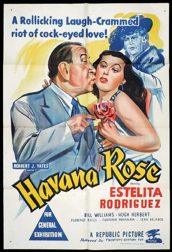 HAVANA ROSE One Sheet Movie Poster Estelita Rodriguez Hugh Herbert